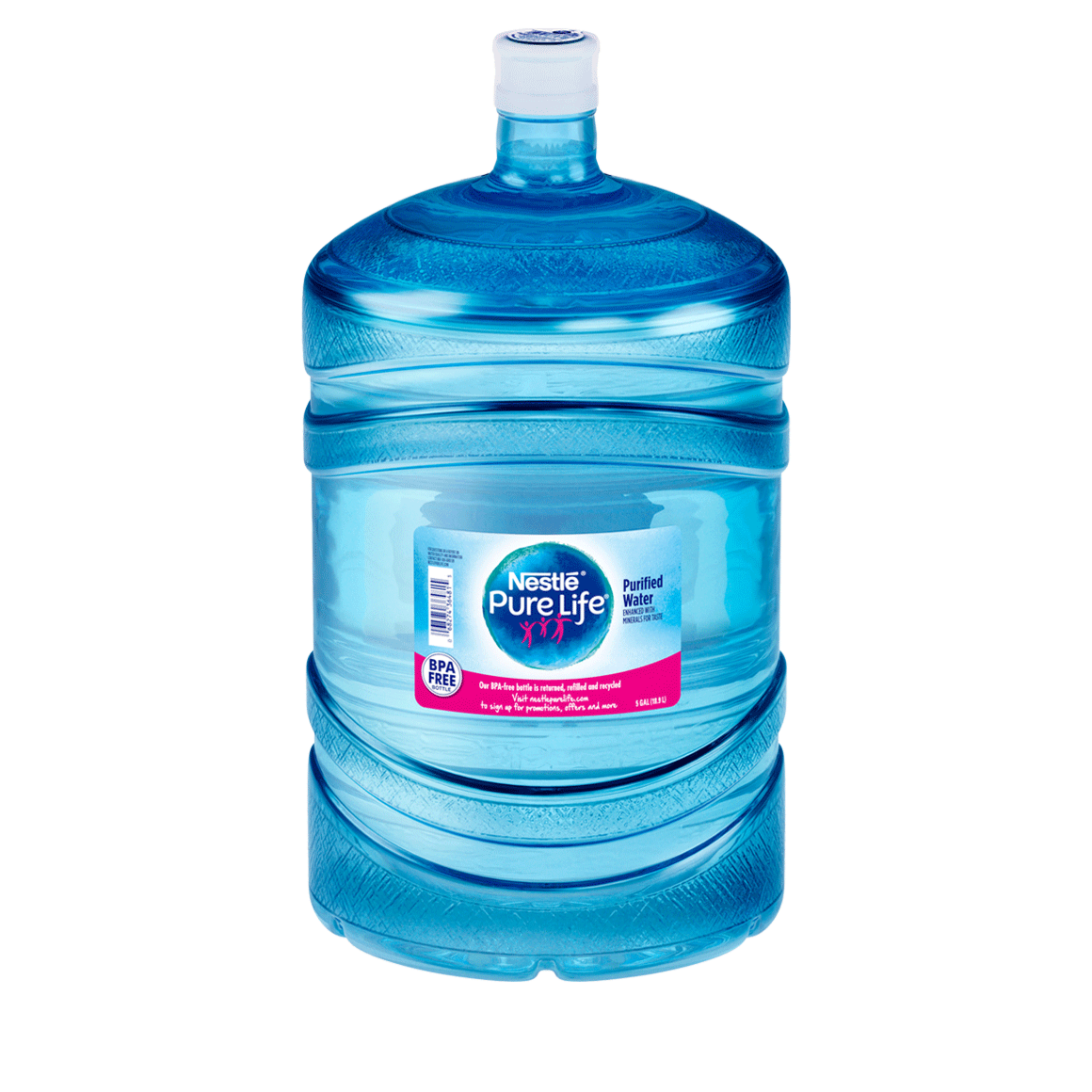 Nestlé® Pure Life® Purified Water - Plastic BPA Free - 5 Gallon - Bottle - Case of 1