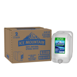 Ice Mountain® 100% Natural Spring Water - 2.5 Gallon - Bottle - Case of 2