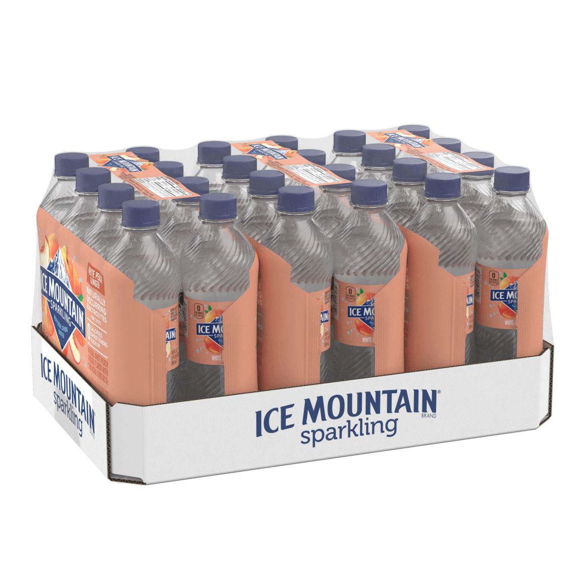 Ice Mountain® White Peach Ginger Sparkling Water Image1