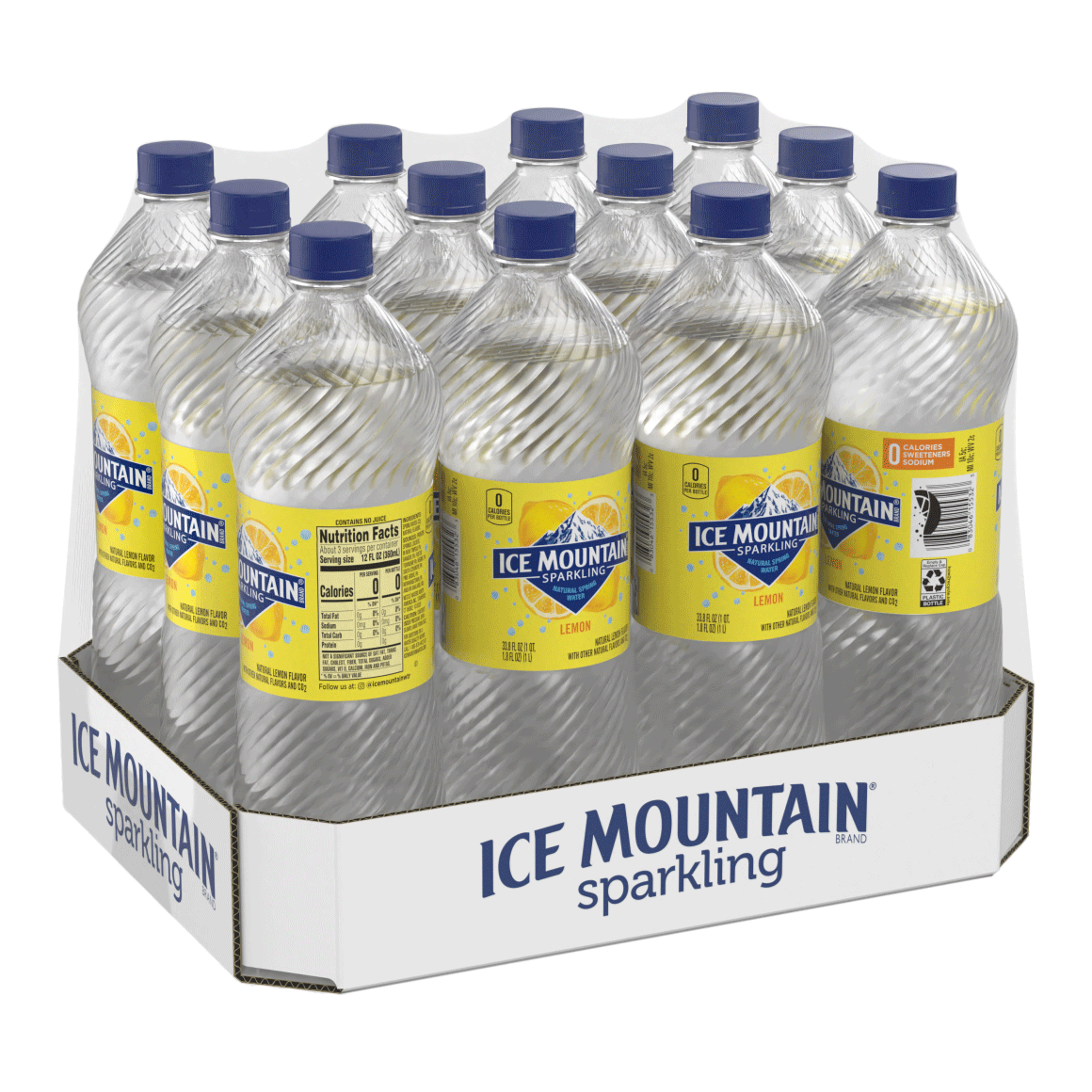 Ice Mountain® Brand Sparkling 100% Natural Spring Water - Lively Lemon Image1