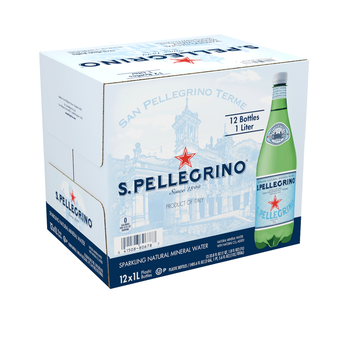 S.Pellegrino® Sparkling Natural Mineral Water Plastic Bottle Image1