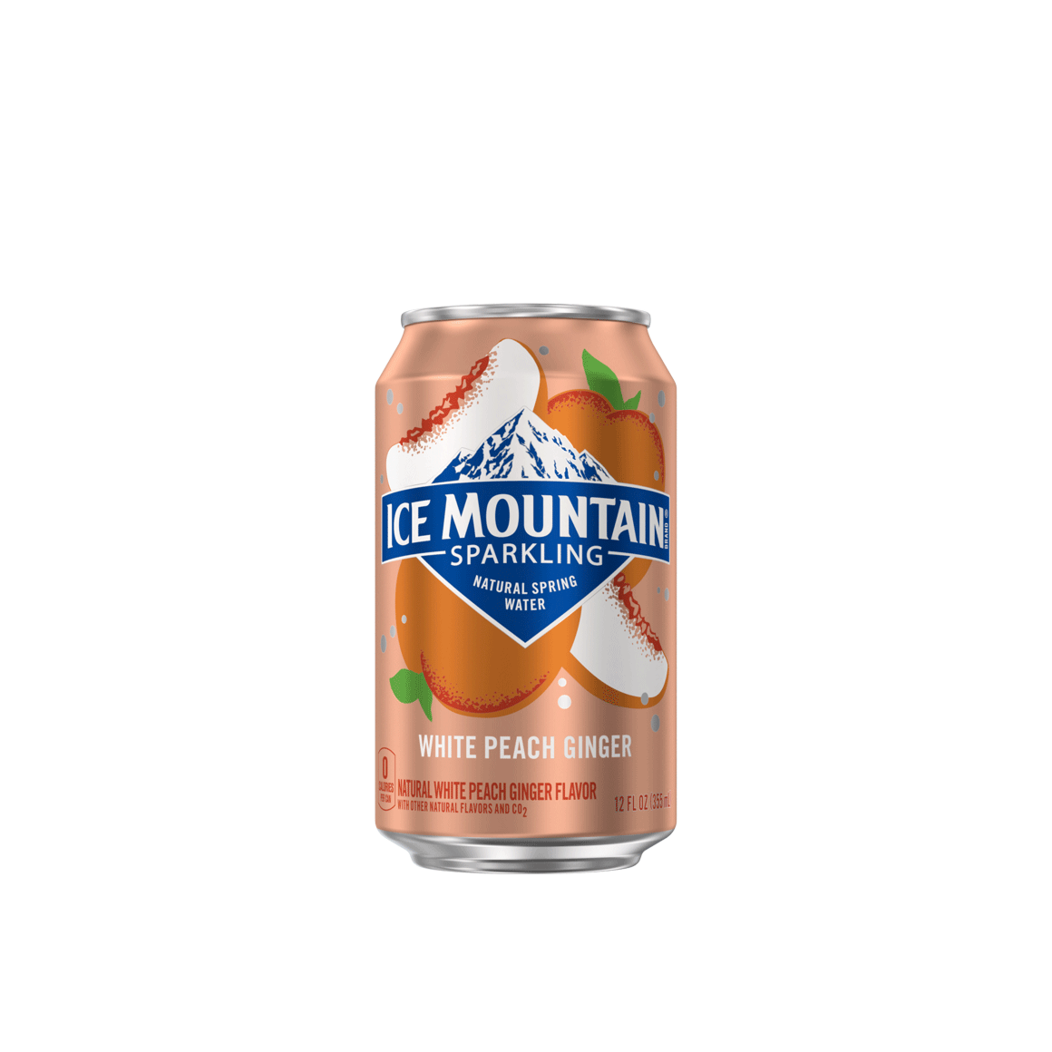 Ice Mountain® White Peach Ginger Sparkling Water Image2