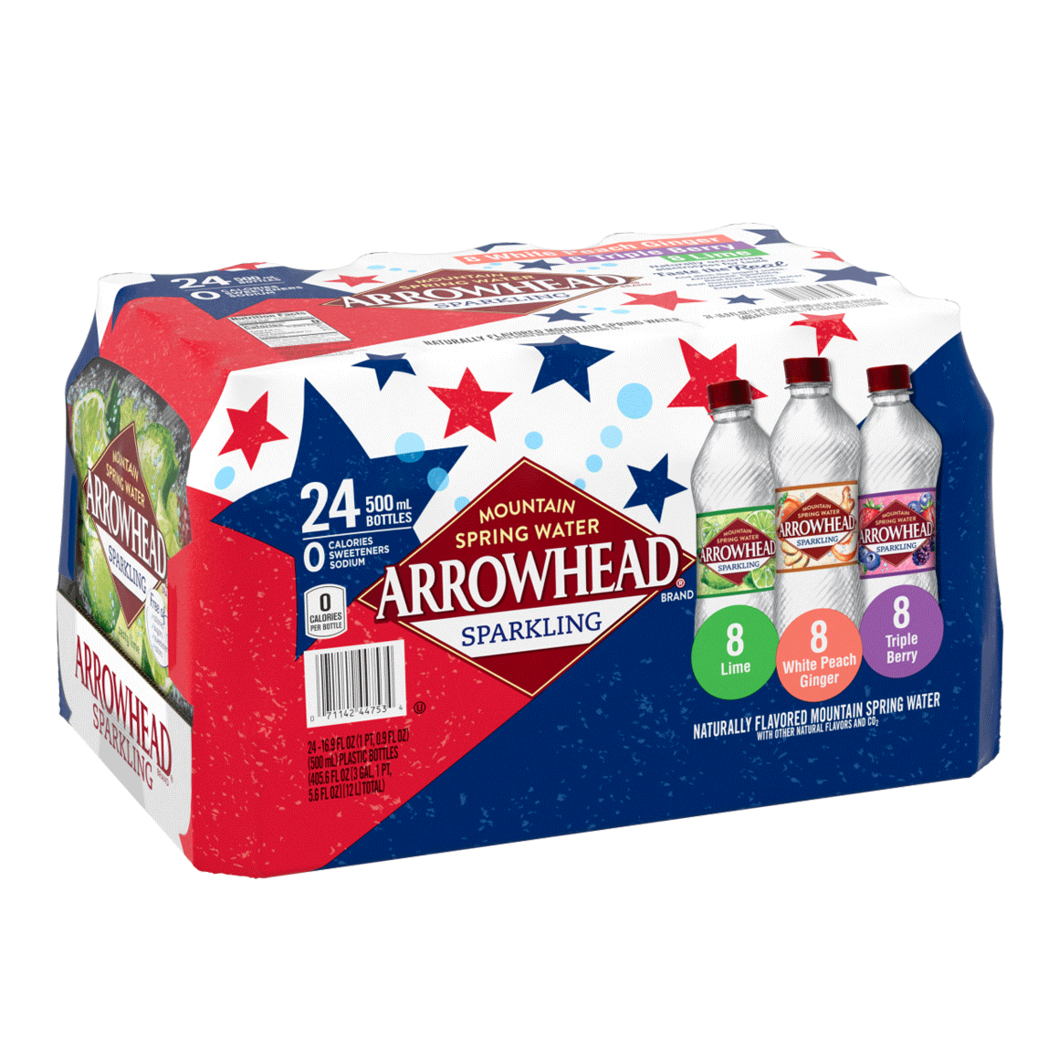 Arrowhead® Brand Sparkling 100% Mountain Spring Water - Rainbow Flavored Variety Pack Image1