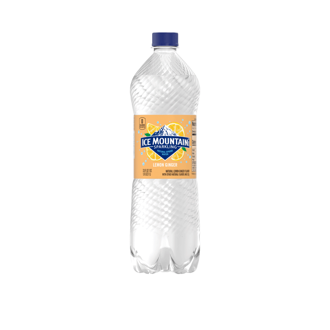 Ice Mountain® Brand Sparkling 100% Natural Spring Water - Lemon Ginger Image2