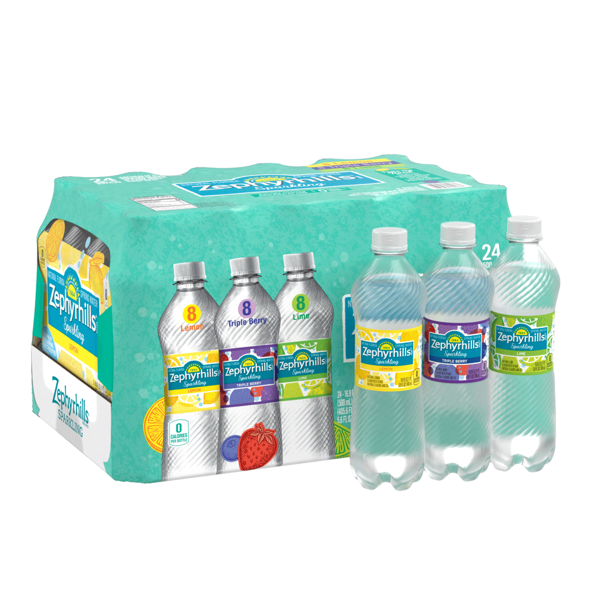 Zephyrhills® Rainbow Flavored Sparkling Water Variety Pack