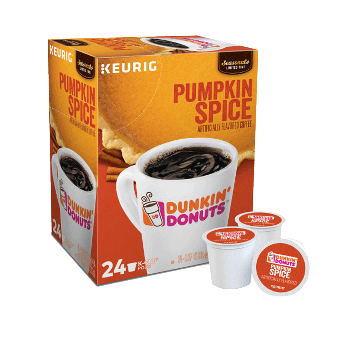 dunkin donuts k cups pumpkin spice 24 pack single serve coffee pods