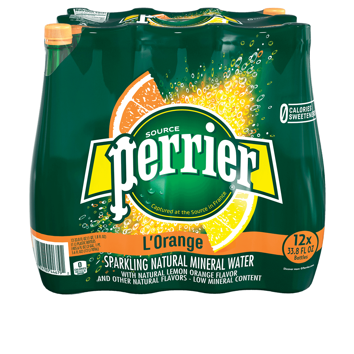 Perrier® Carbonated Mineral Water - L'Orange