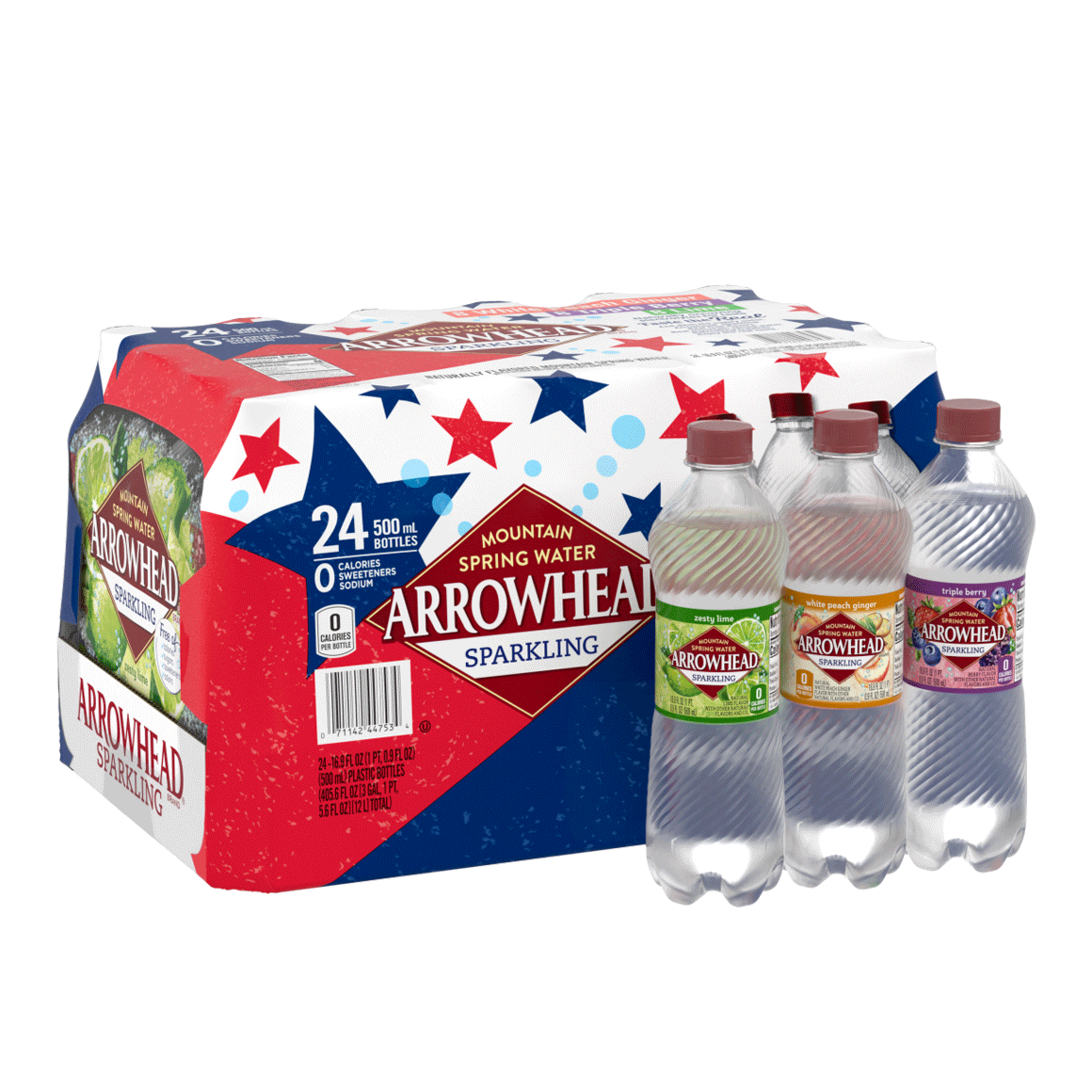 Arrowhead® Brand Sparkling 100% Mountain Spring Water - Rainbow Flavored Variety Pack