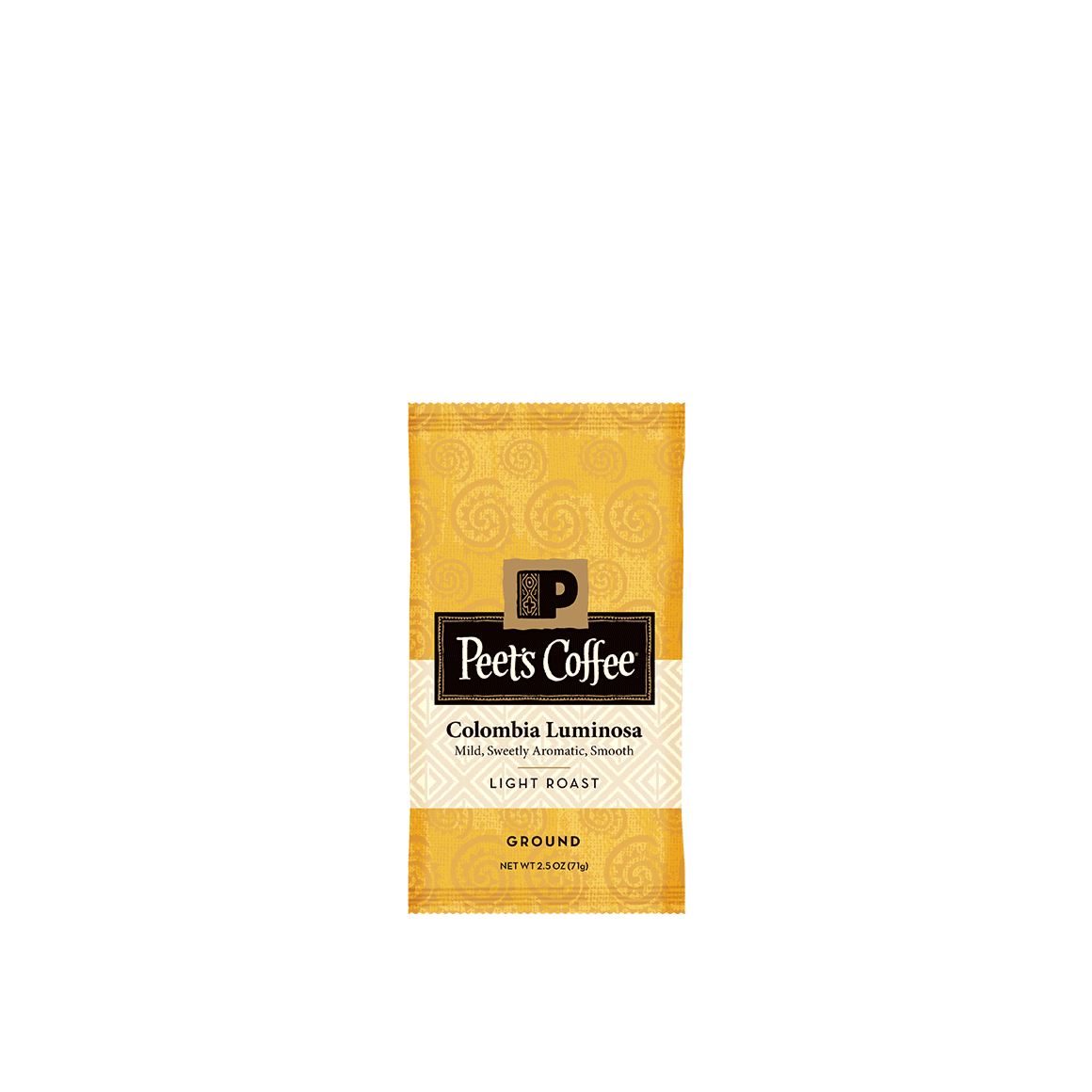 Peet's Coffee® Colombia Luminosa - 2.5 oz. - Bag - Box of 18
