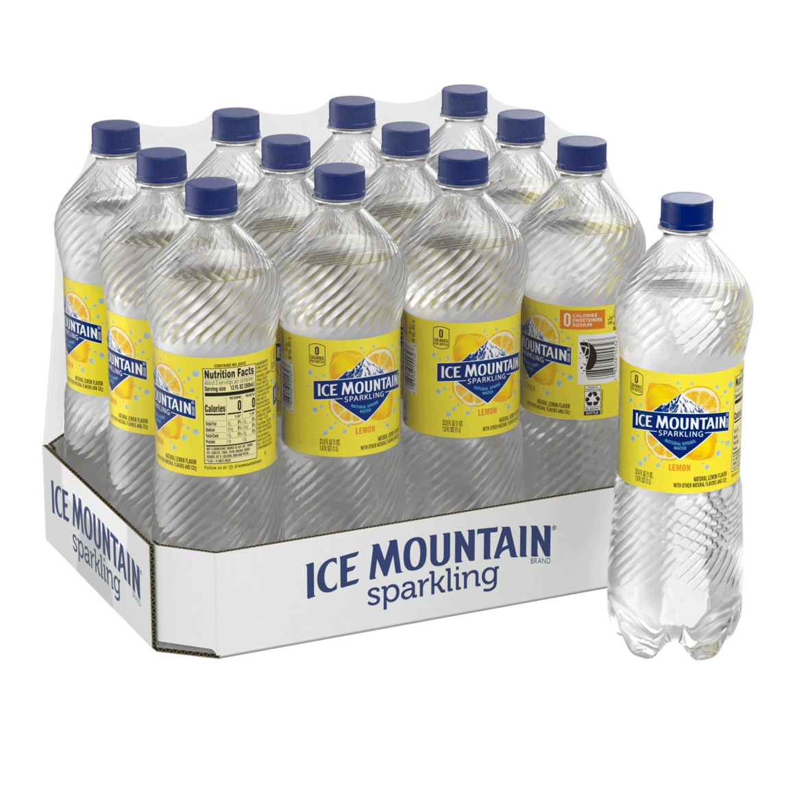 Ice Mountain® Brand Sparkling 100% Natural Spring Water - Lively Lemon