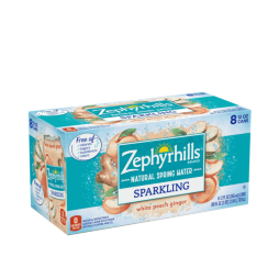 Zephyrhills® White Peach Ginger Sparkling Water