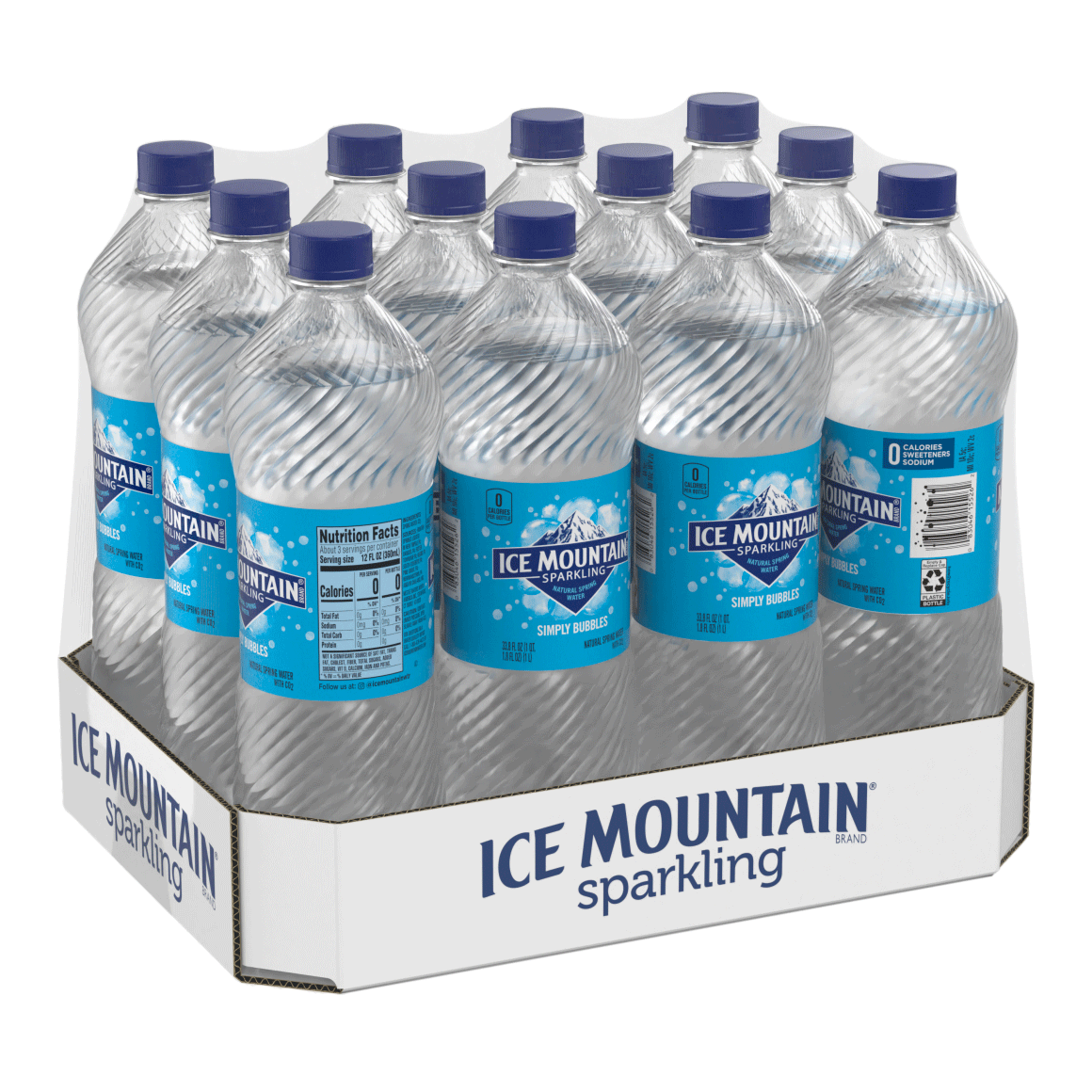 Ice Mountain® Brand Sparkling 100% Natural Spring Water - Simply Bubbles Image1